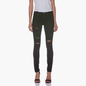 Paige Verdugo skinny black shadow destructed jeans